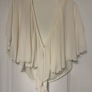Zara Sheer Cream Top